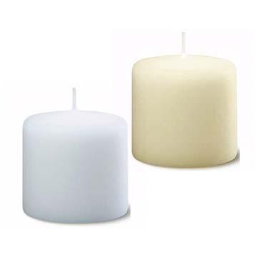 Bolsius - Euro Classic Pillar Candle 10cm x 10cm - White or Ivory