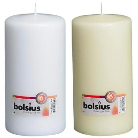 Bolsius - Euro Classic Pillar Candle 20 x 7 - White or Ivory