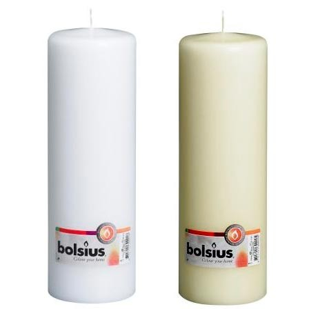 Bolsius - Euro Classic Pillar Candle 25 x 8 - White or Ivory