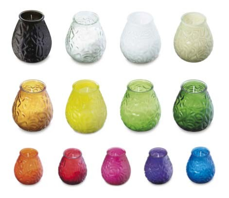 Cafe Table Lamp 'Low Boy' Candle Jar - 13 Colours