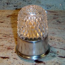 Dazzle Candle Lamp Clear Glass with Economy Silver Base