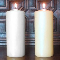 Bolsius - Euro Style 17 x 7 Pillar Candle pack of 4 - White or Ivory