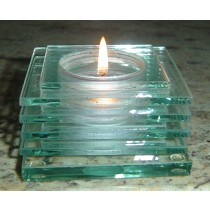 Louvre Tealight Lamp - Clear