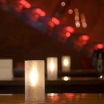 Robust Acrylic Candle Lamp 15cm