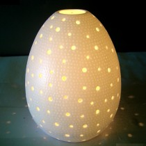 Porcellana Shell Candle Lamp large (20cm tall)