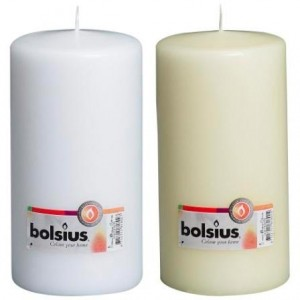 Bolsius - Euro Classic Pillar Candle 200 x 68mm - White or Ivory