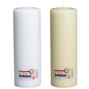 Bolsius - Euro Classic Pillar Candle 300 x 98mm - White or Ivory