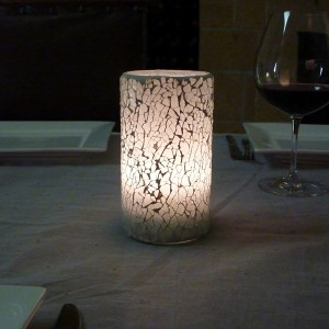 Mini mosaic candle lamp