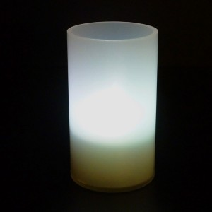 With warm white LED